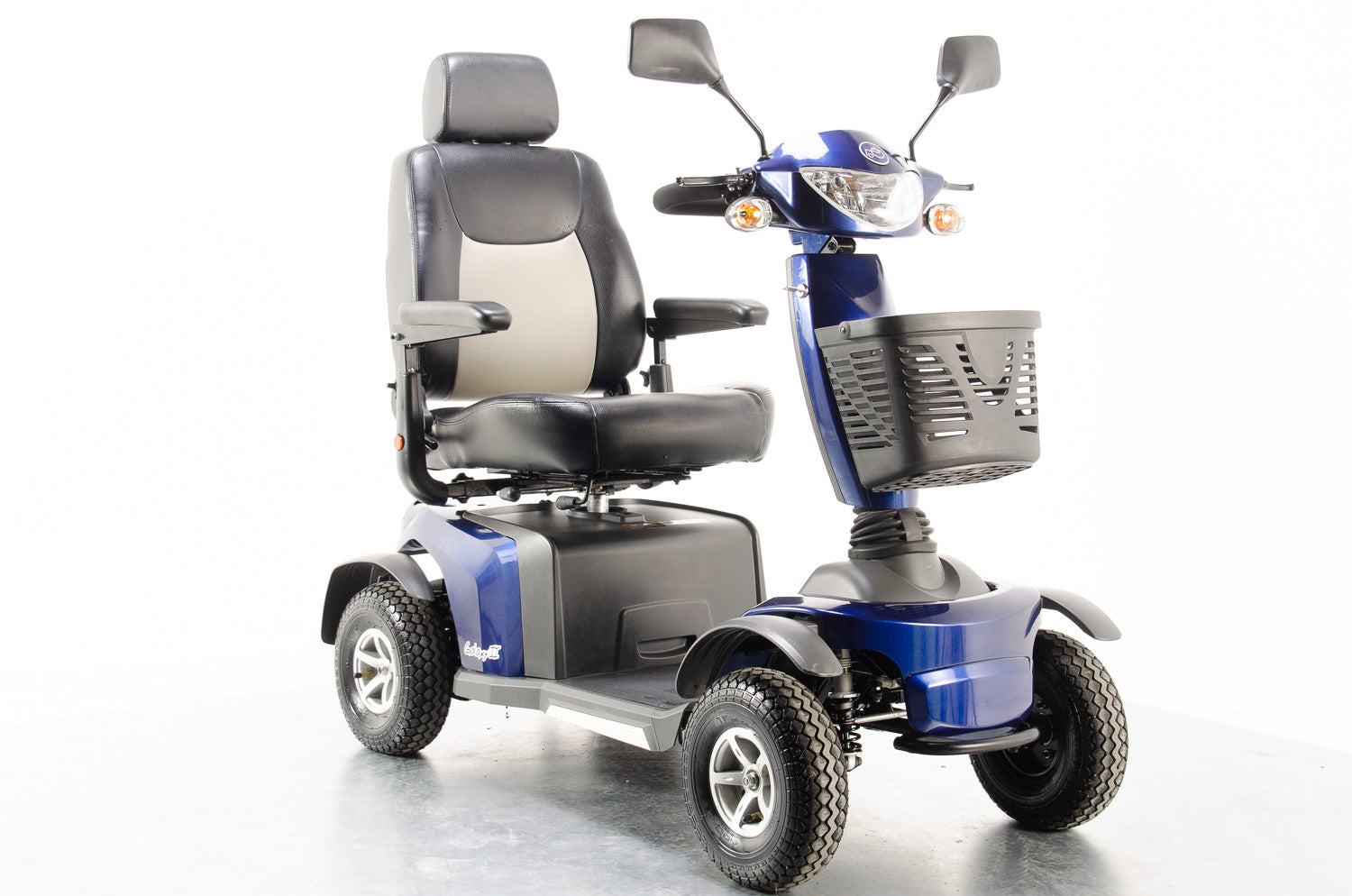 2015 Van Os Galaxy II 2 8mph Large Comfort Class 3 Mobility Scooter in Blue