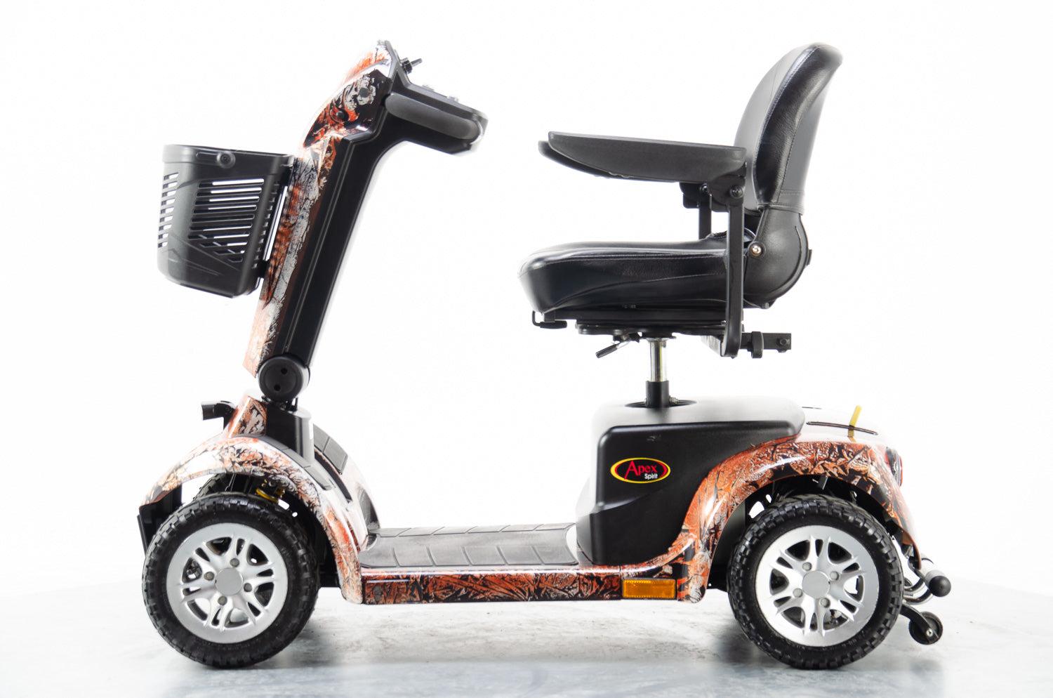 2014 Pride Apex Sprint Plus Electric Mobility Scooter Used Second Hand 4mph Mid Size Orange Marble