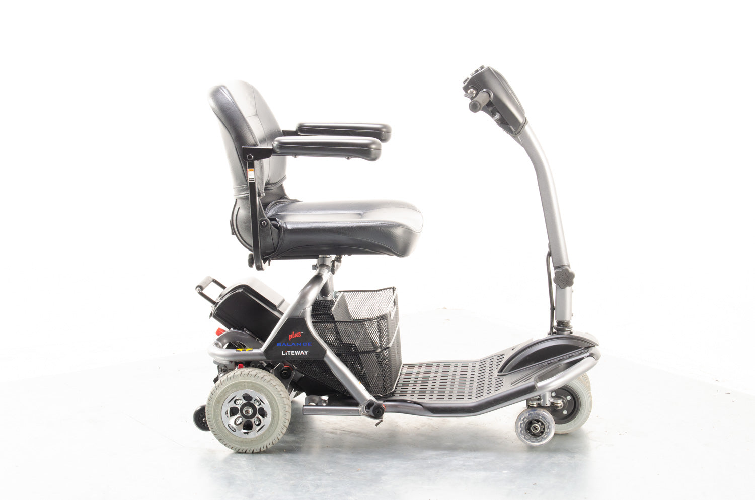 2018 Rascal Liteway Balance Plus Electric Mobility Scooter Used Second Hand 4mph Mobility Scooter Transportable 6 Wheel Boot Graphite Grey