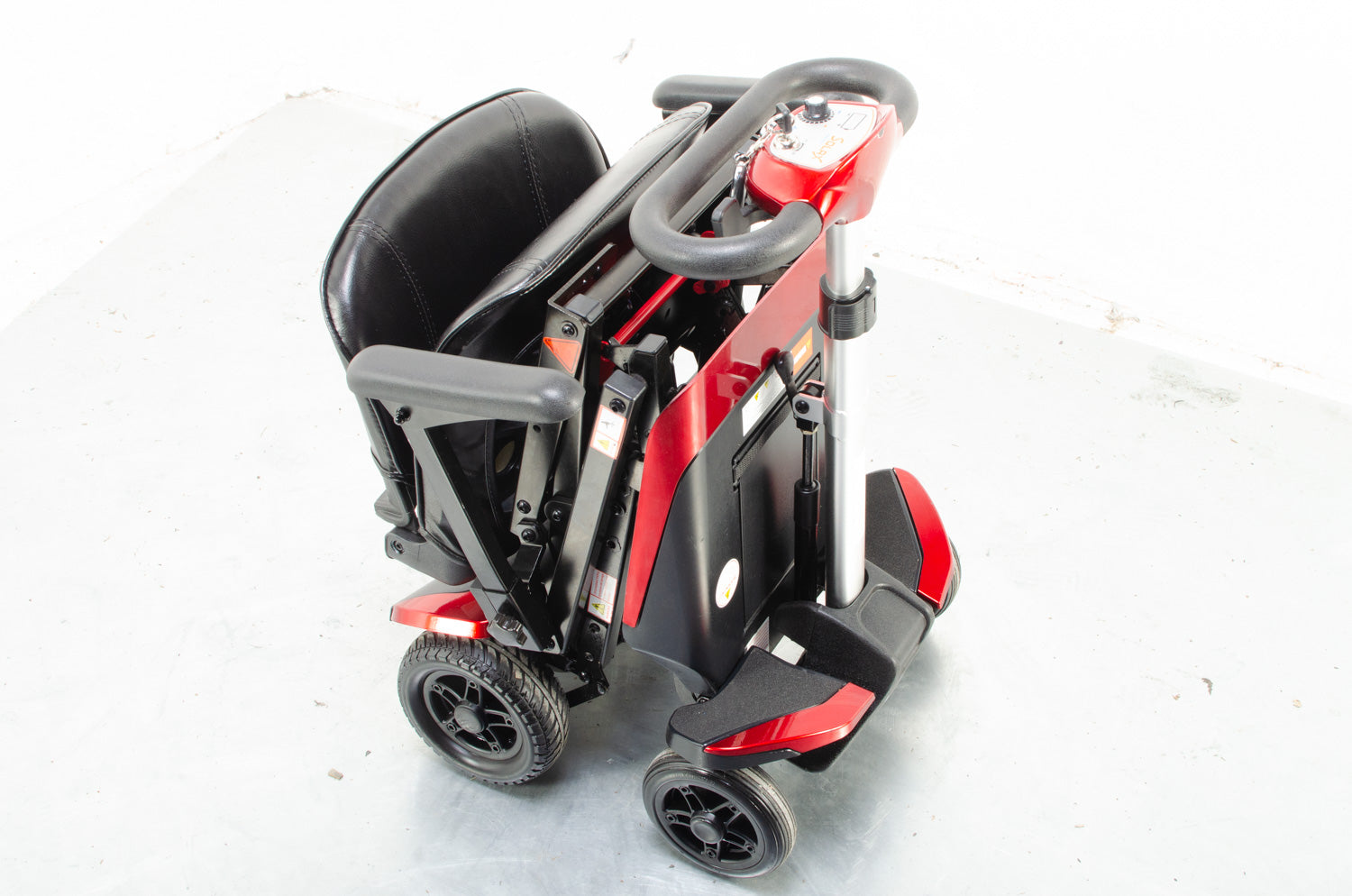 Monarch Smarti 4mph Remote Auto Folding Mobility Scooter in Red