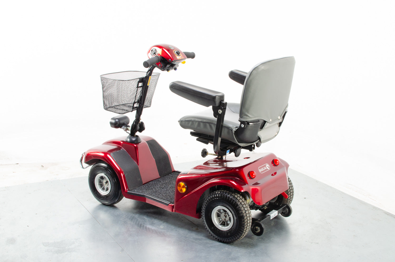 2018 Rascal 388 S 4mph Mid Size Electric Mobility Scooter Red