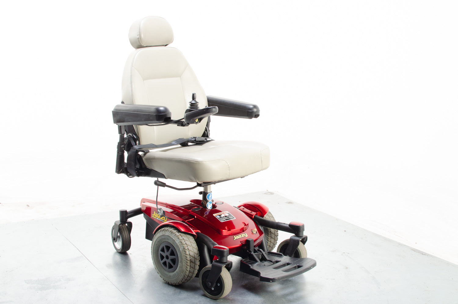 Pride Jazzy Select 6 4mph MWD Powered Electric Wheelchair in Red