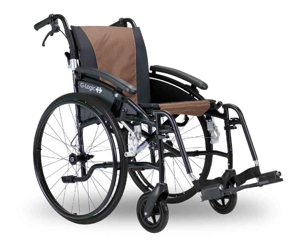 "Excel G-Logic 20"" Self Propelled Manual Wheelchair from Van Os Medical"