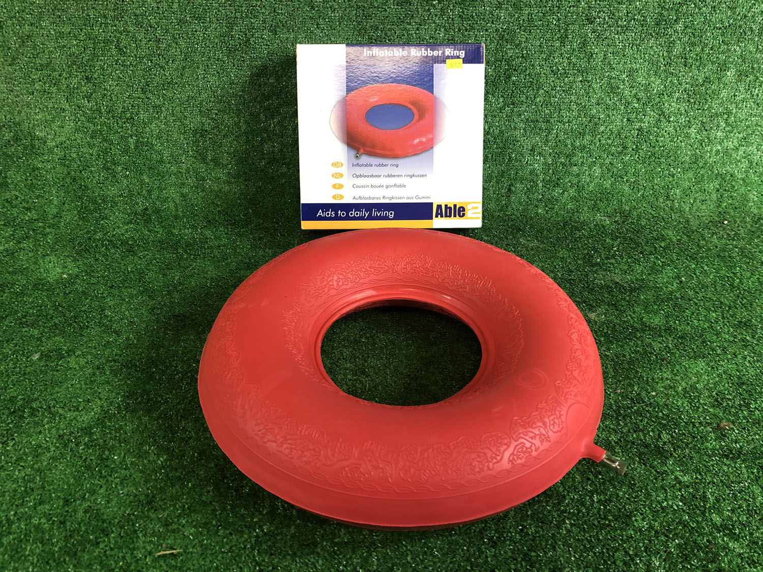 "Inflatable Rubber Doughnut Ring Air Pressure Relief Sore Cushion 16"" 41cm"