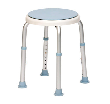 Bath Stool With Rotating Seat Swivel Seat Adjustable Height