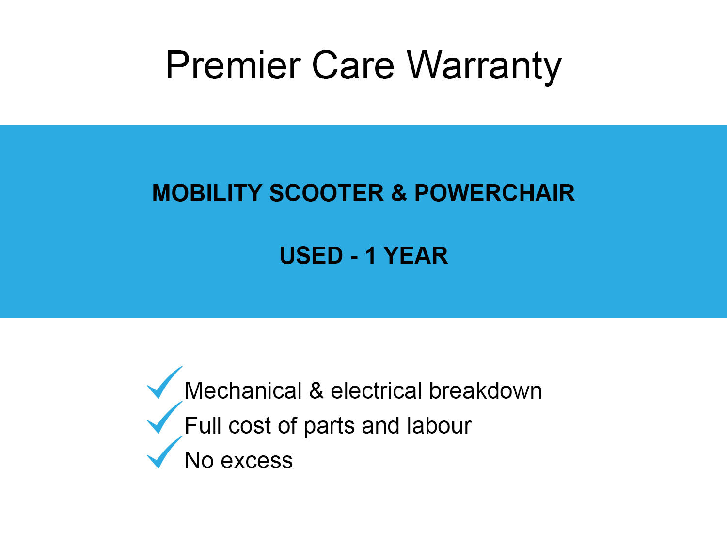 Mobility Scooter - Powerchair Extended Warranty (used)