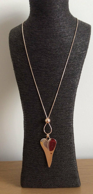 Load image into Gallery viewer, EBBE SOLID HEART  NECKLACE