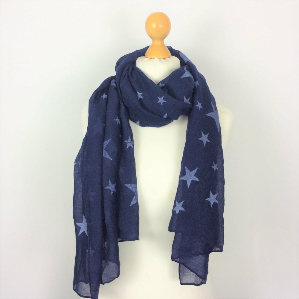 KEELEY LITTLE AND LARGE STARS SCARF