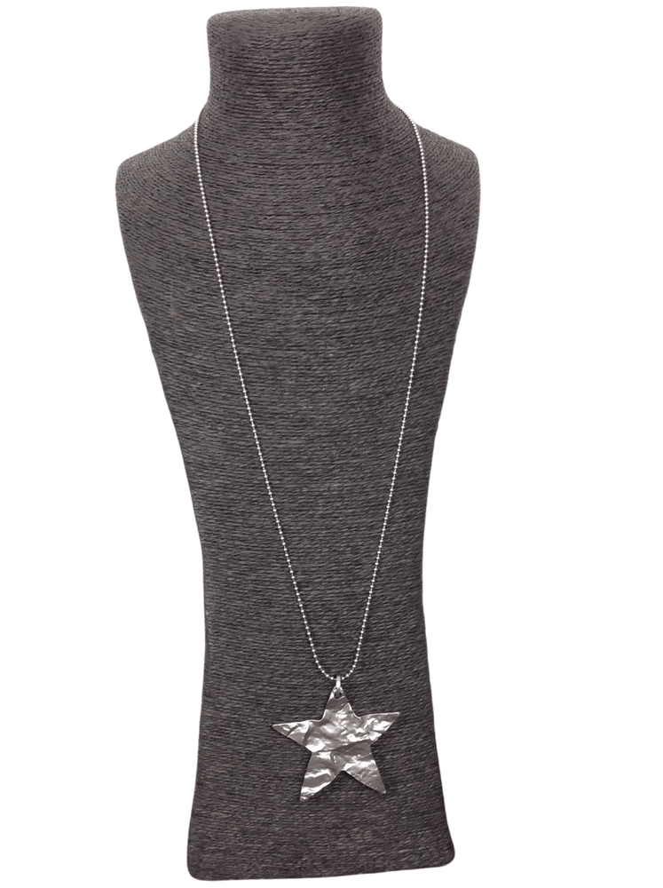 AVA HAMMERED EFFECT STAR NECKLACE