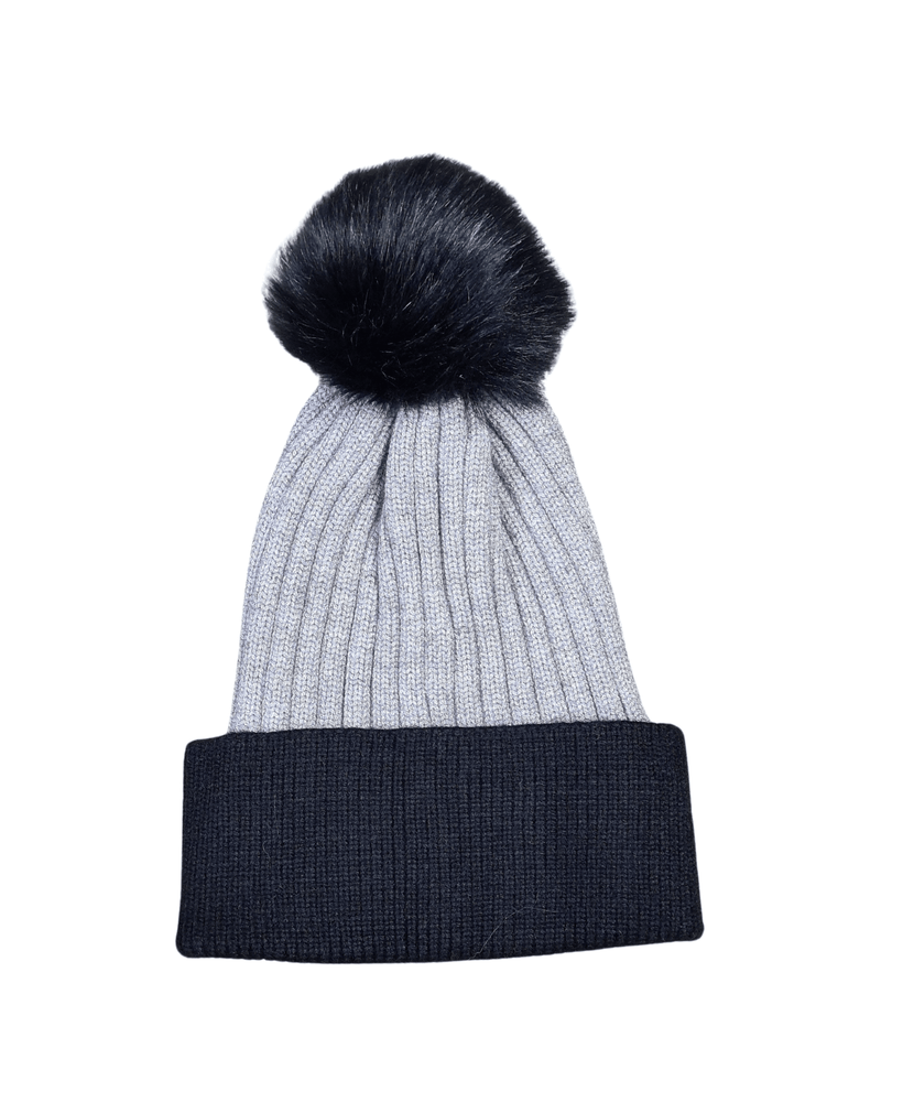 Load image into Gallery viewer, SHERRY CONTRASTING TRIM WOOL POM POM HAT