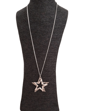 Load image into Gallery viewer, NALA HOLLOW STARS NECKLACE