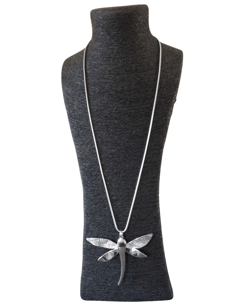 RAVEN HAMMERED DRAGONFLY NECKLACE