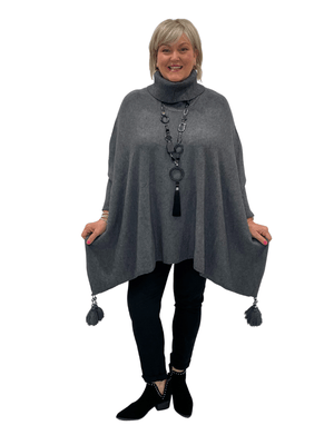 Load image into Gallery viewer, VIVIENNE OVERSIZED ROLL NECK TASSEL JUMPER
