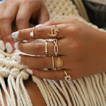 Women Gold Finger Rings Jewelry