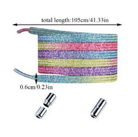 NO TIE SHOELACES LOCK TYPE 2 - 23 Colors available - *** In order to apply discount, Please add to CART ***