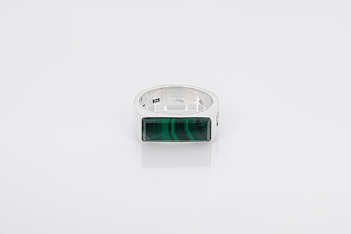 RECTANGLE MALACHITE - Garcjewelry