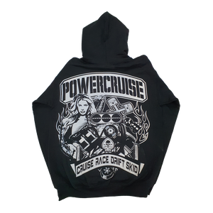Black Powercruise YOUTH Hoody CRUISE RACE DRIFT SKID