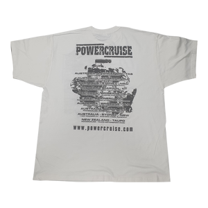 Powercruise White USA AUS NZ Events Shirt