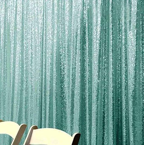 Green Sequin Farbic Backdrop UK for Wedding Birthday Prom Decorations SE-5