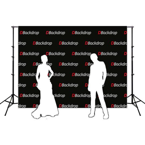 Custom Logo Banner Promotional Events Black Background Backdrop