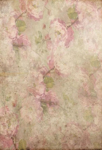 Grunge Pink Floral Photo Studio Backdrop GA-60
