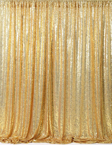 Gold Sequin Farbic Backdrop UK for Party Prom Decorations SE-1