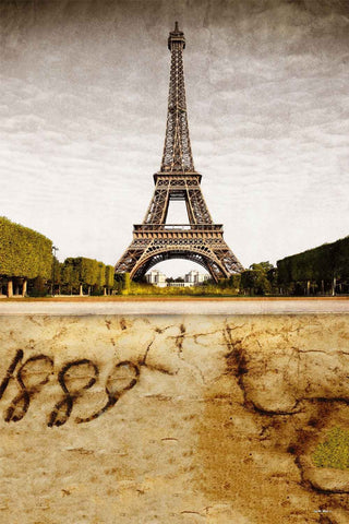 Paris Eiffel Tower 1889 Retro Photo Backdrop CM-MR-0888-E