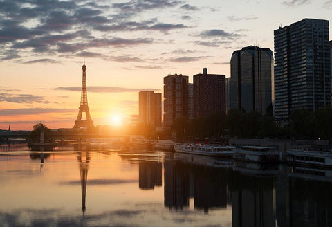 Eiffel Tower Backdrop UK Paris Sunset City Landscape Backdrop UK for Photo Booth D129