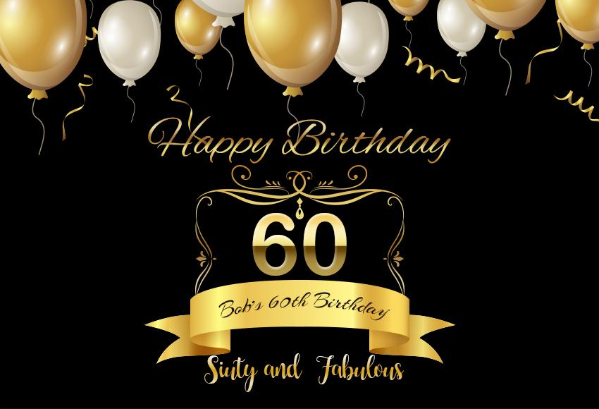 Custom Birthday 50th 60th 70th Photography Backdrop D589