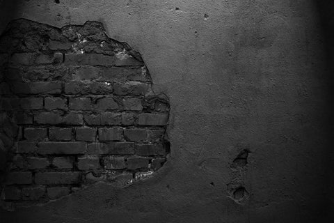Abstract Backdrop Black Damaged Brick Wall Texture DBD-19485