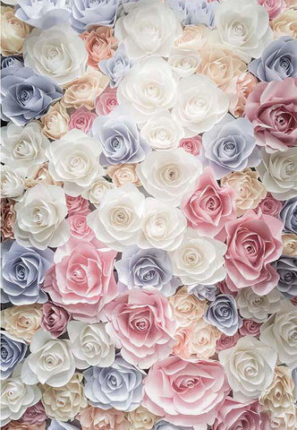 Flowers Backdrop for Weeding Birthday Newborn Photography F-2426