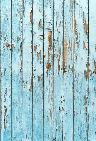 Blue Paint Peeling Wooden Wall backdrop UK Photography Floor-130