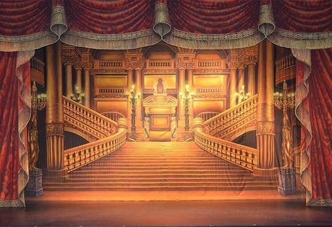 Golden Palace Luxury Castle Stage Backdrop for Photography G-083