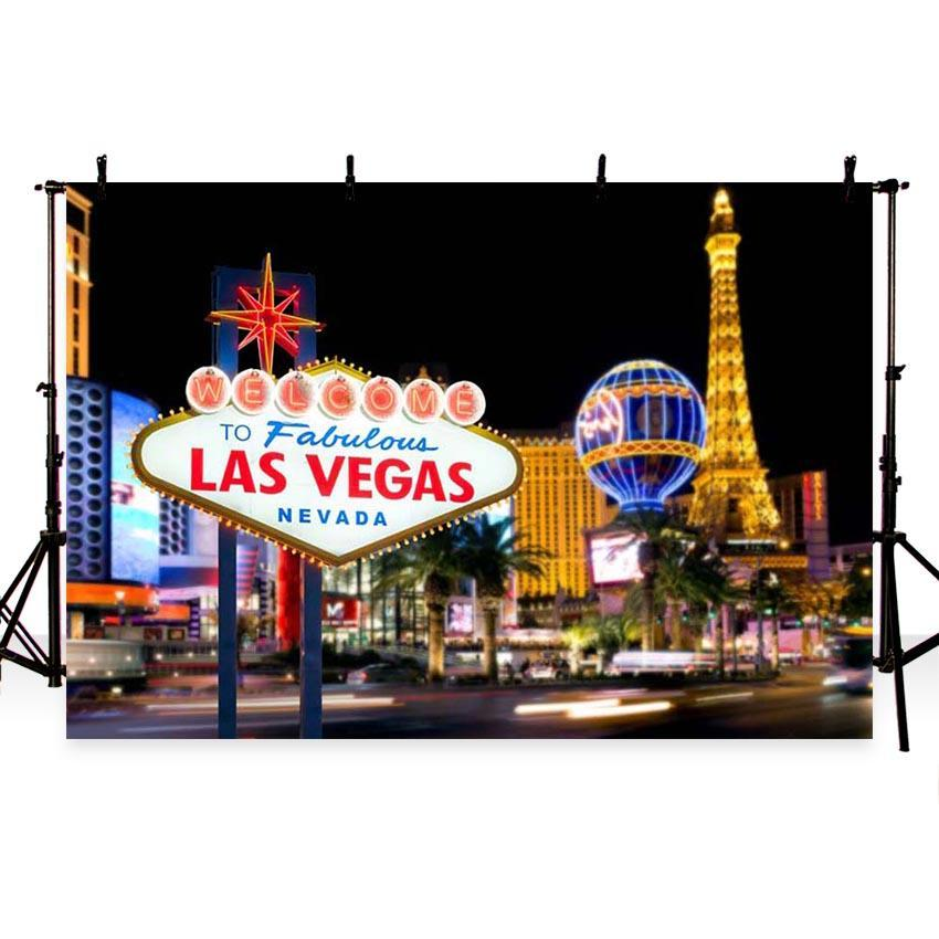 Attractions Iconic Landmarks Las Vegas Themed Eiffel Tower Backdrop G-161