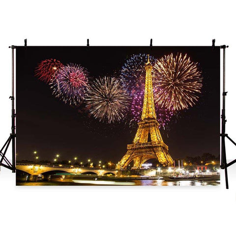 Attractions Backdrops Scenic Backdrops Cheap Background Eiffel Tower G-169