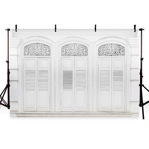 White Door Home Decor Photography Backdrop G-179