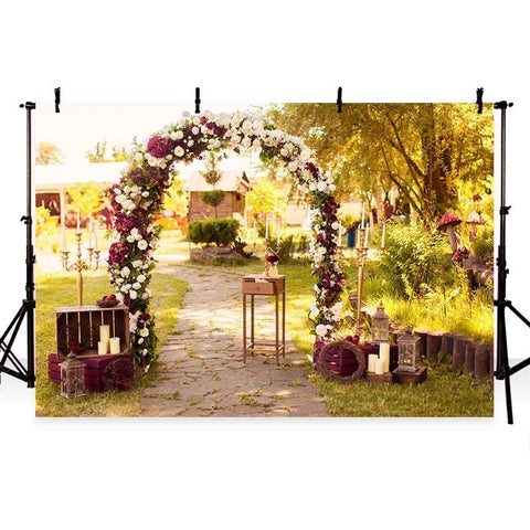 Wedding Backdrops Trees Backdrop Flowers Background G-212