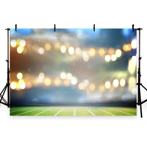 Football  Field Sports Stadium Bokeh Lights Photography Backdrop G-258