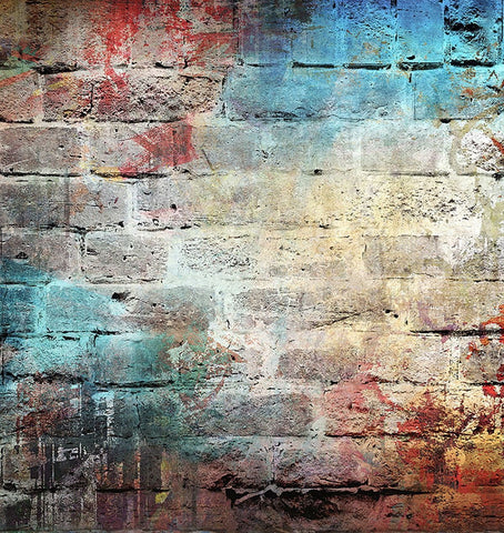 Graffiti Brick Wall Retro Photography Backdrop UK GB-35