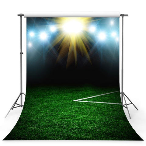 Footable Field Night Lights Sport Stadium Green Grass Photo Backdrop G-376