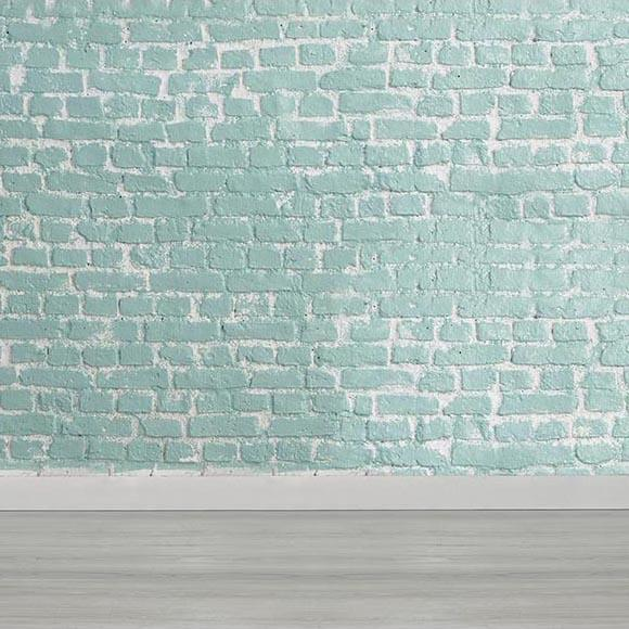 Blue Brick Wall Backdrop Photography Backdrop UK  G-464