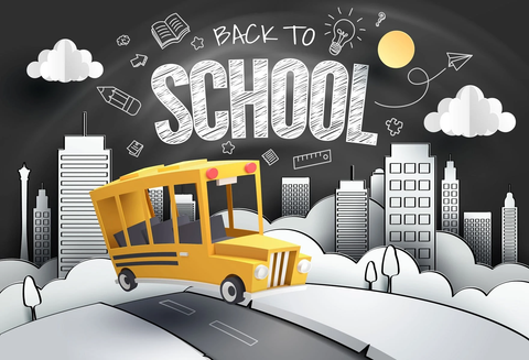 School Bus Back to School  Children Photo Booth Backdrop G16