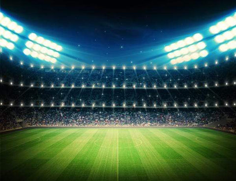 Stadium Bokeh Lights Sports Photo Booth Backdrop GA-28