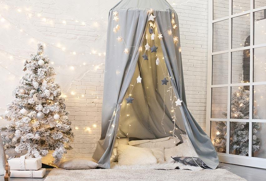 White Christmas Tree Tent Background for Christmas GX-1059