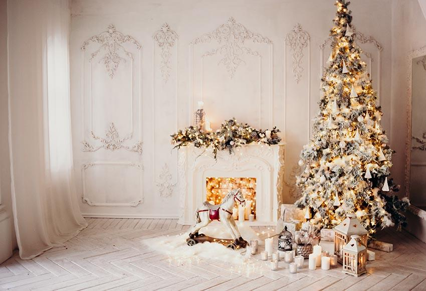 Christmas Interior Decoration White backdrop UK for Photography GX-1083