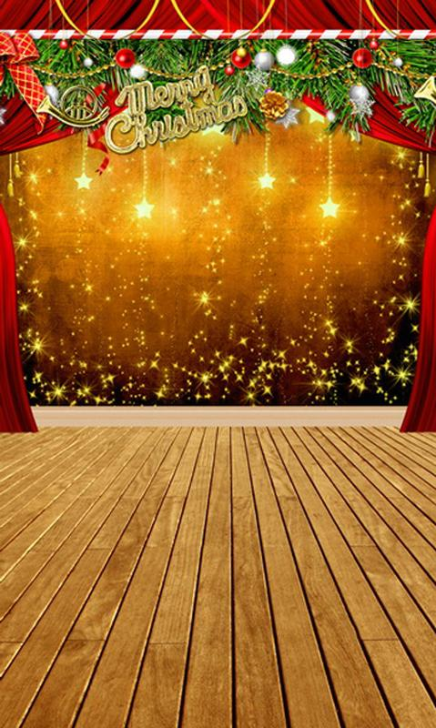 Christmas Lights Red Curtain Photography backdrop UK L-855