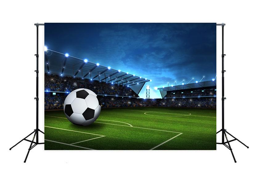 Football Field Spotlights Sports Photo Booth Backdrop M088