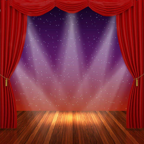 Red Curtain Lighting Stage Backdrops for Photo Booth MR-2261