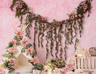 Pink Flower Beautiful Wall Backdrops Newborn for Photography NB-387