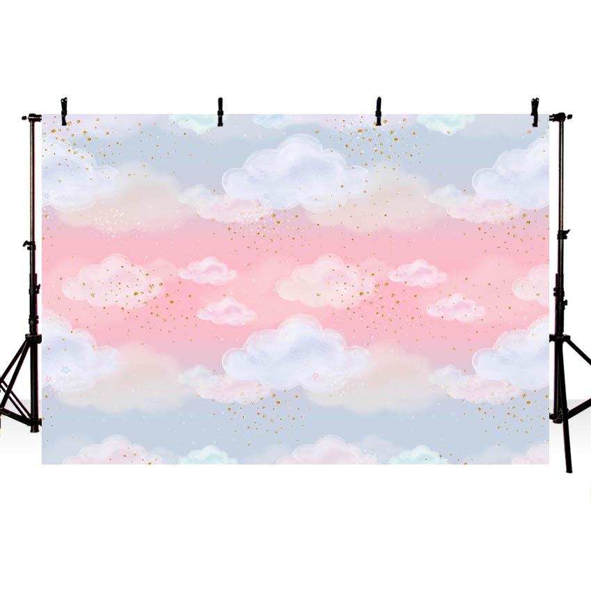 Lovely Pink Sky Clouds backdrop UK for Photography NB-348